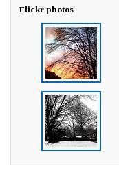 flickrpress widget screen