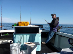 Mike fishing for halibut
