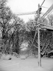 Snowy pole