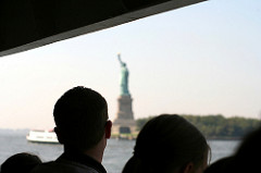 View of the Statue of Liberty